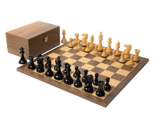 Stallion Black Walnut Chess Set & Box - Official Staunton™