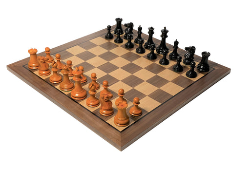 1849 Antique Black Walnut Chess Set - Official Staunton™