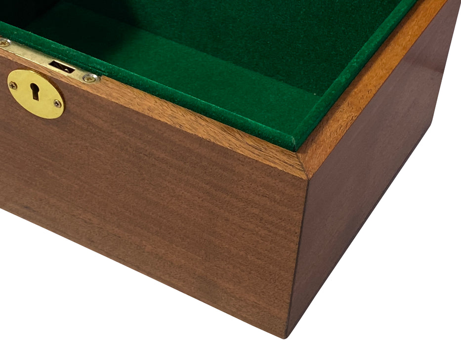 "1849 Reproduction 4.4"" Boxwood Chess Pieces & Chess Box - Official Staunton™"