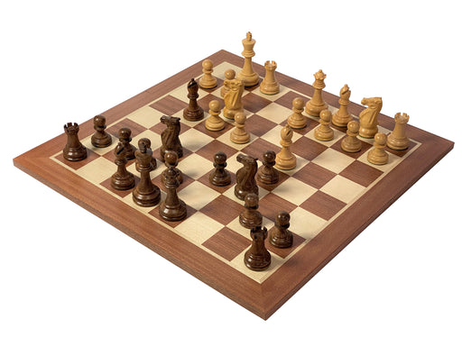 Professional Stallion Acacia Mahogany Chess Set & Box - Official Staunton™