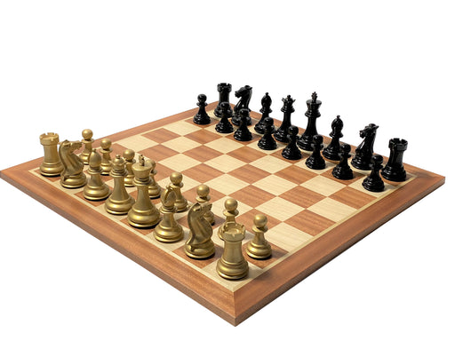 Gold Prestige Mahogany Chess Set - Official Staunton™
