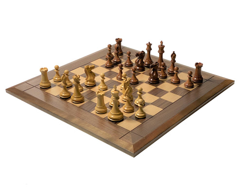 Collectors Series Walnut Bevelled Chess Combination - Official Staunton™