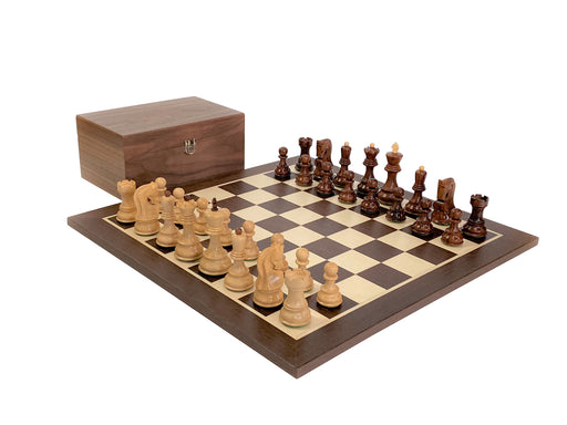 Anjan Rosewood Wenge and Walnut Chess Set - Official Staunton™
