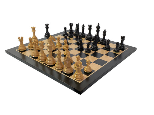 King Charles Ebony Anegre Chess Set - Official Staunton™