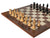 "23"" Italian Monarch Ebony Burl Root Prestige Chess Set - Official Staunton™"