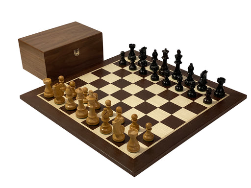 British Black Walnut and Wenge Chess Set - Official Staunton™