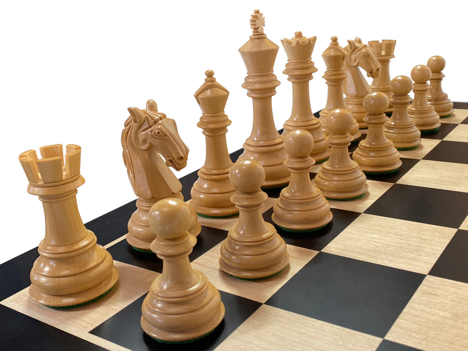 King Charles Redwood Anegre Chess Set - Official Staunton™