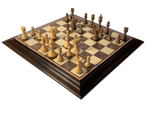 Imperial Acacia Platform Walnut Burl Chess Set - Official Staunton™