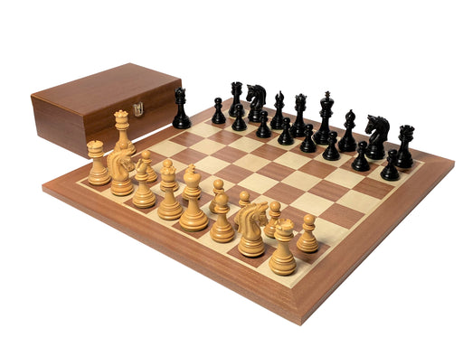 Imperial Ebonised Mahogany Chess Set & Box - Official Staunton™