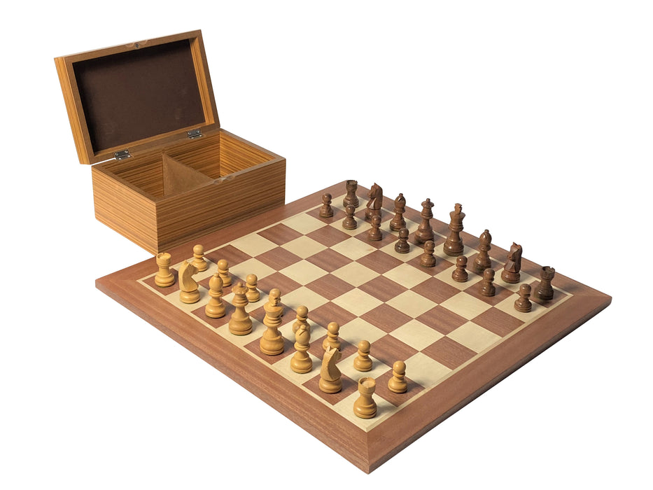 Grand Classic Acacia Mahogany Chess Set & Box - Official Staunton™