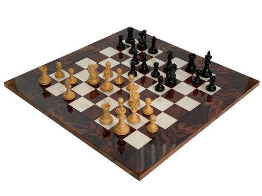 "19.75"" Italian Prestige Walnut Elite Luxury Chess Board & Box - Official Staunton™"