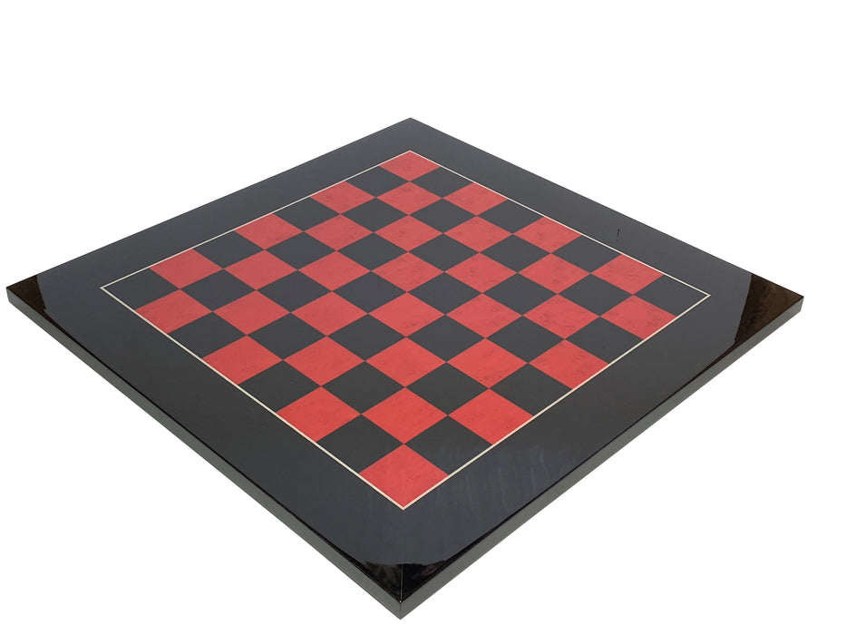 "20"" Italian Red & Black Prestige Chessboard - Official Staunton™"
