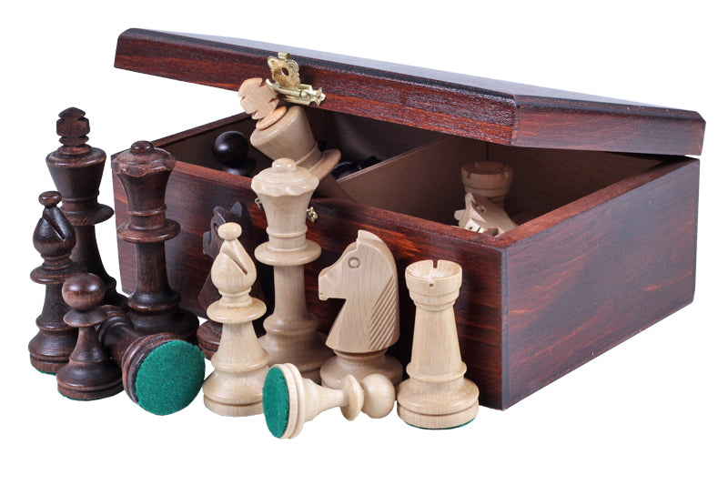 Mahogany Stained Birch Wood Chess Box - Official Staunton™