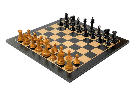 Antique Leuchars Anegre Chess Set & Luxury Box - Official Staunton™