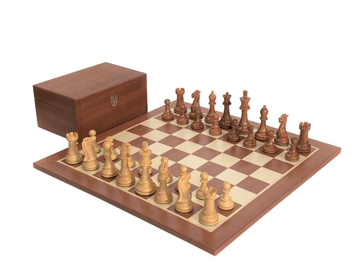 "19"" Acacia Winchester Mahogany Chess Set Combination - Official Staunton™"