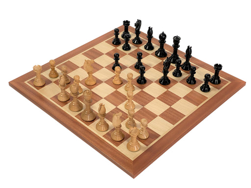 Calvert Northern Upright Ebonised & Mahogany Chess Set - Official Staunton™