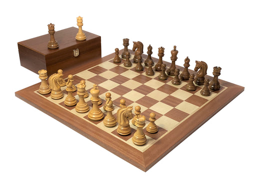 Imperial Acacia Mahogany Chess Set & Box - Official Staunton™