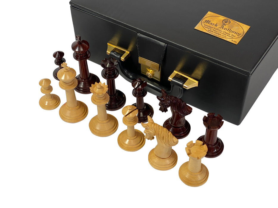 Artist Edition Mark Antony Sandalwood Chess Pieces and Case - Official Staunton™