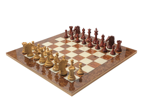Atlantis Prestige Italian Briar Elm Chess Set - Official Staunton™