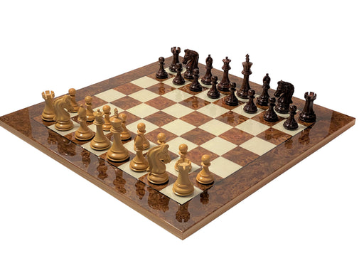 Canterbury Imperial Rosewood Italian Briarwood Chess Set - Official Staunton™