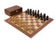 British Black Mahogany Chess Set & Box - Official Staunton™