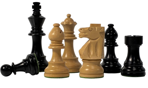 "3.75"" British Boxwood & Ebonised Chess Pieces - Official Staunton™"