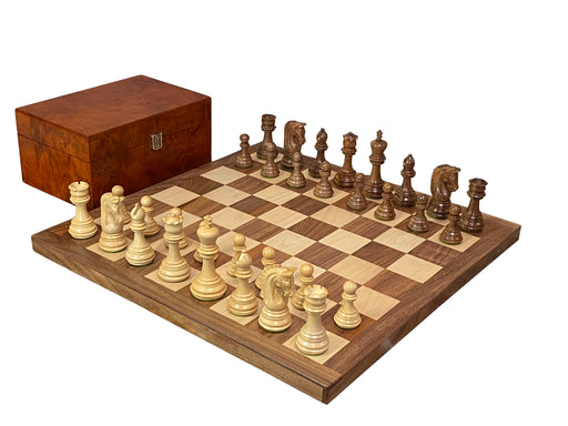 "18"" Solid Acacia Imperial Stanton Chess Set Board & Box - Official Staunton™"