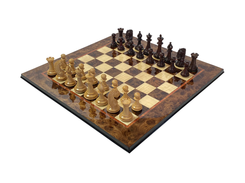 Artisan Sheffield Series Rosewood and Elm Chess Set - Official Staunton™
