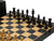 Monarch Ebony Rexine Anegre Chess Set - Official Staunton™