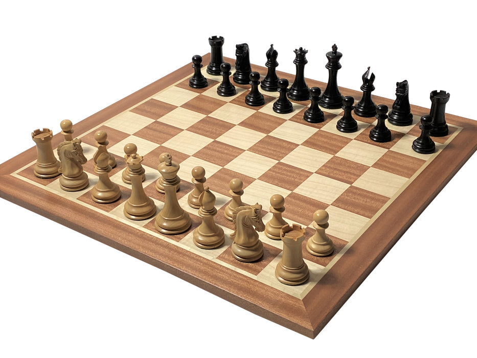 "3.9"" Imperial Ebony and Mahogany Chess Set & Box - Official Staunton™"