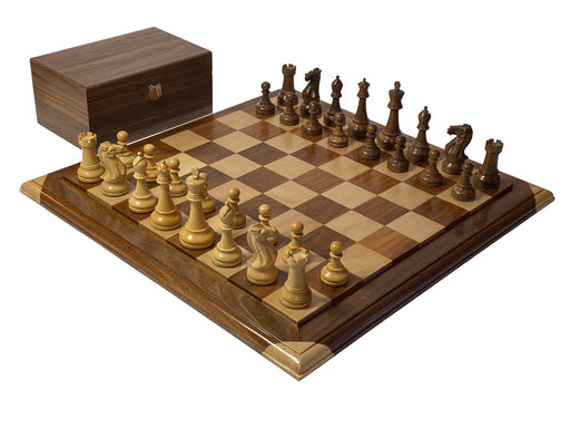 Winchester Acacia Raised Platform Chess Set - Official Staunton™