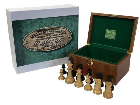 1849 Staunton.US Chess Pieces & Box - Official Staunton™
