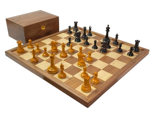"4"" Leuchars Antique Chess Set Combination - Official Staunton™"