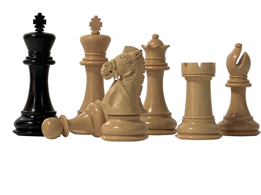 "4"" Rein Edition Ebony Chess Pieces - Official Staunton™"