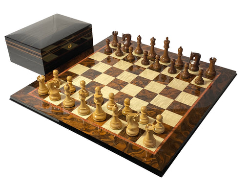 Italian Prestige Walnut Leningrad Chess Set - Official Staunton™