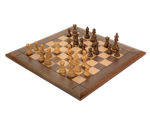 Executive Acacia Walnut Bevel Chess Set - Official Staunton™