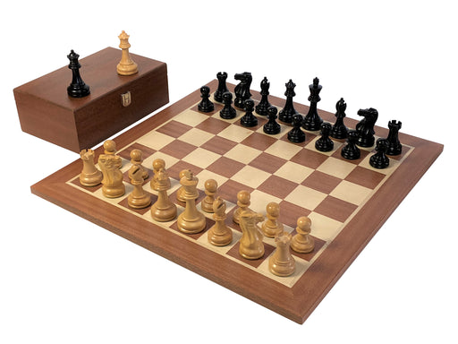 Professional Stallion Black Mahogany Chess Set & Box - Official Staunton™