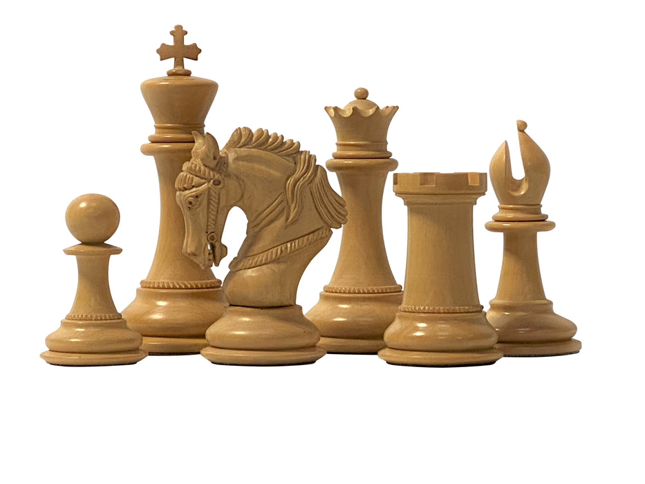 "Artist Edition 4.5"" King Arthur Sandalwood Chess Pieces - Official Staunton™"