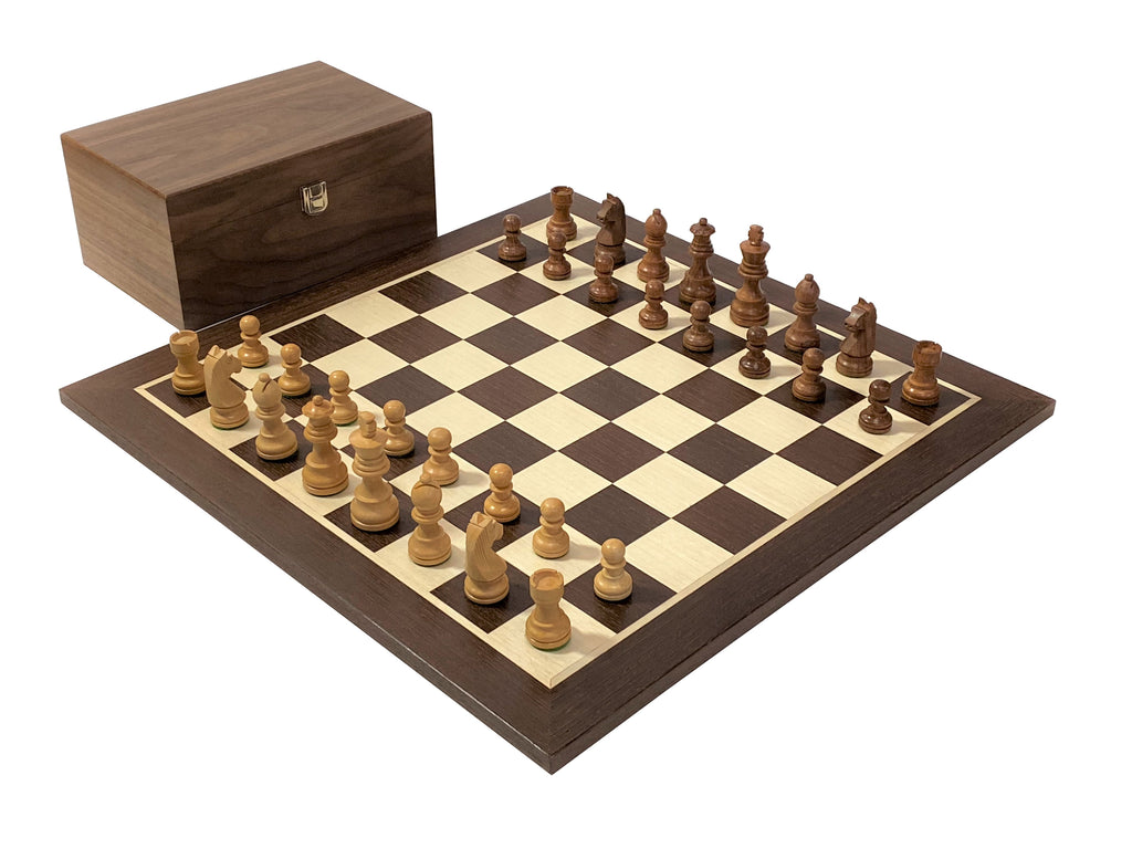 Acacia Classic Wenge and Walnut Chess Set - Official Staunton™