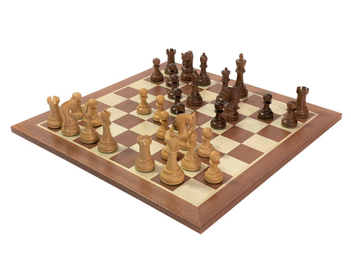 Leningrad Acacia Mahogany Chess Set Combination - Official Staunton™