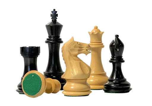 "4"" Supreme Black Queens Gambit Chess Pieces - Official Staunton™"
