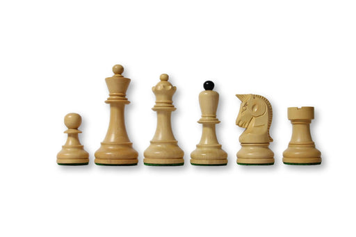 "3.7"" Dubrovnik Acacia & Boxwood Chess Pieces - Official Staunton™"