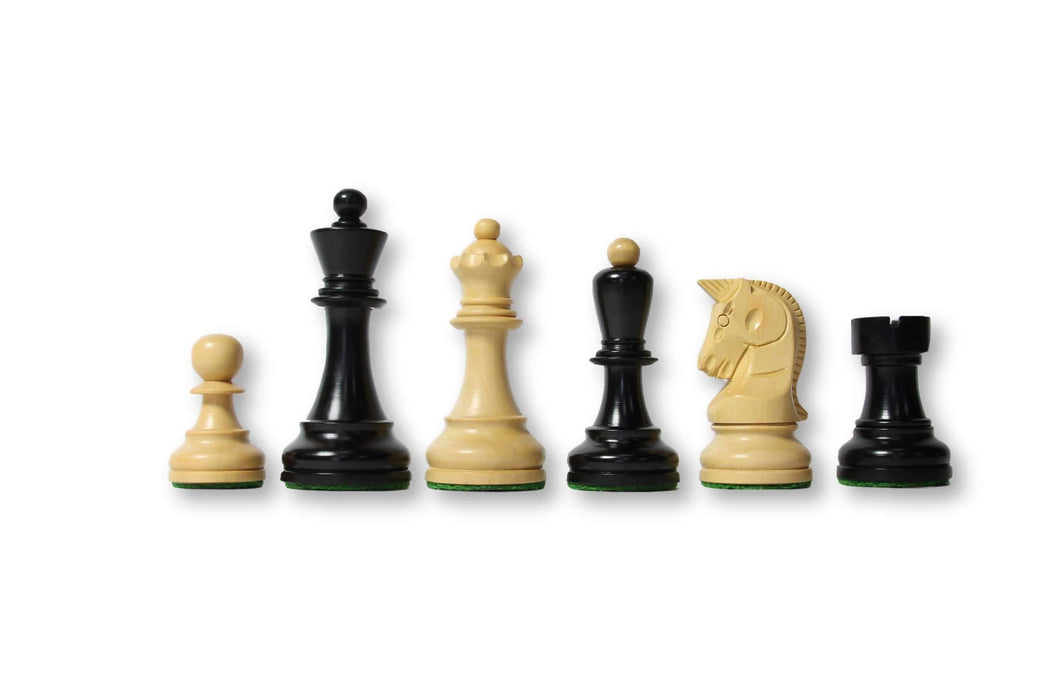 Dubrovnik Boxwood & Black Chess Pieces - Chess Set