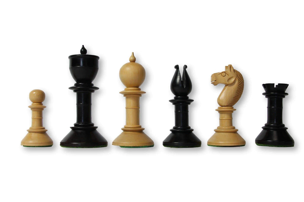 3.8 Northern Upright Pre Staunton Chess Pieces - Chess Set