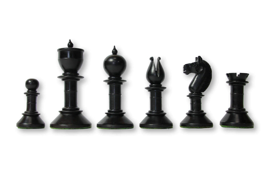"3.8 "" Calvert Northern Upright Pre Staunton Chess Pieces - Official Staunton™"