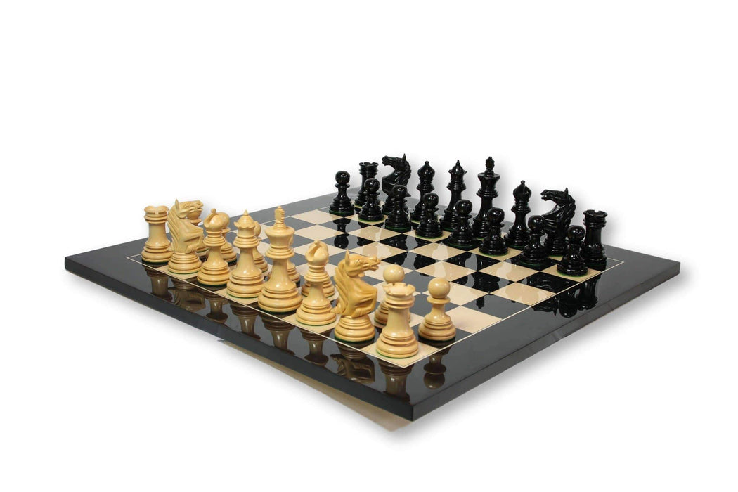 Ashia Roaring Knight High Gloss Anegre Chess Set - Official Staunton™