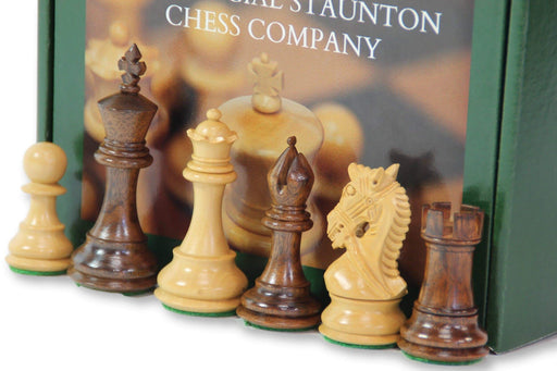 "3.5"" Bridled Knight Acacia Chessmen - Official Staunton™"