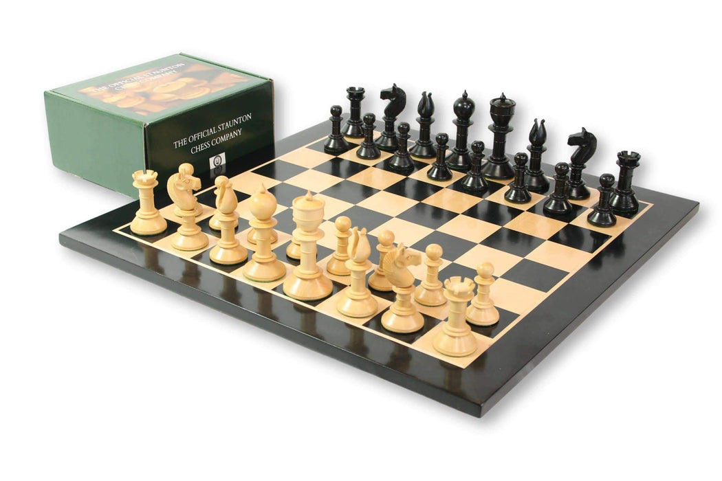 "3.8"" Calvert Northern Upright Pre Staunton Anegre Chess Set - Official Staunton™"