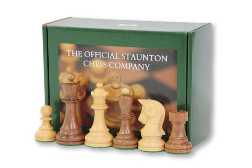 3.7 Dubrovnik Acacia & Boxwood Chess Pieces - Chess Set