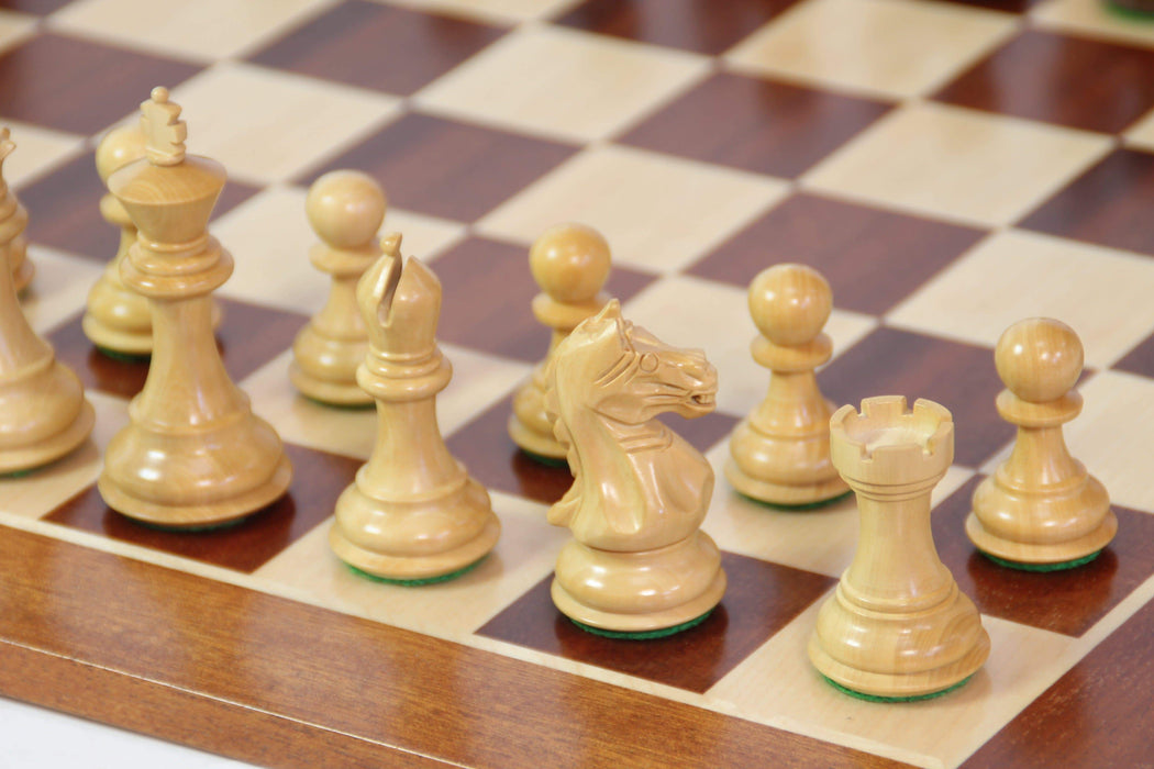 Fierce Knight Acacia & Mahogany Chess Set - Official Staunton™